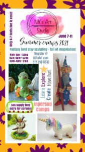 2021 Nilis Art Kids Summer Camps Ceramic