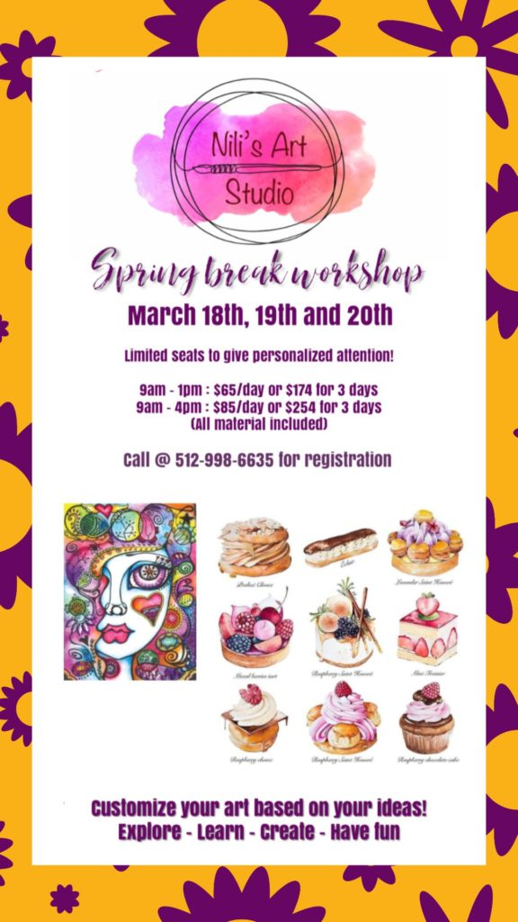 Nili's Art Spring Break Workshop