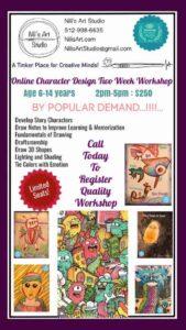 Nilis Art 2021 Summer Art Class Character Design